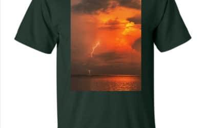 T-Shirt – Lightning by Derek Ford